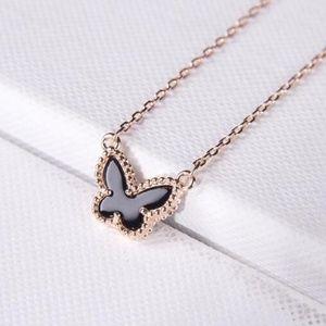 Van Cleef & Arpels Black Butterfly necklaces